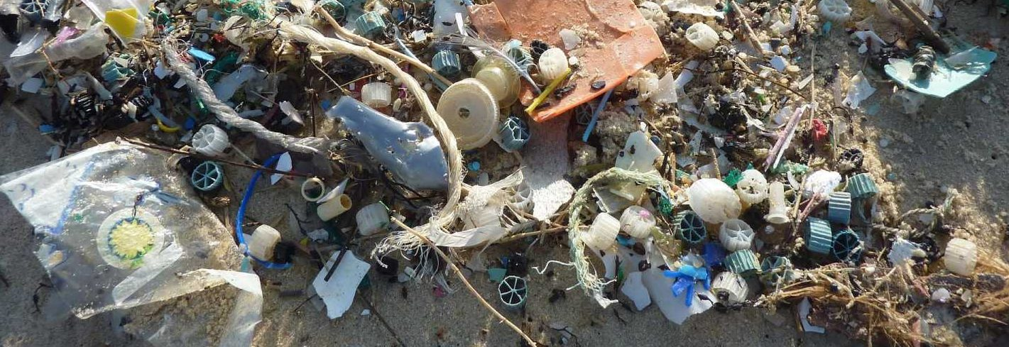 Ocean Plastics Marine Plastic Waste Beach Rubbish Sustainable stock - image courtesy of Pixabay.