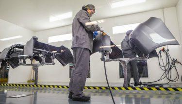 Stock manufacturing factory paint shop automotive