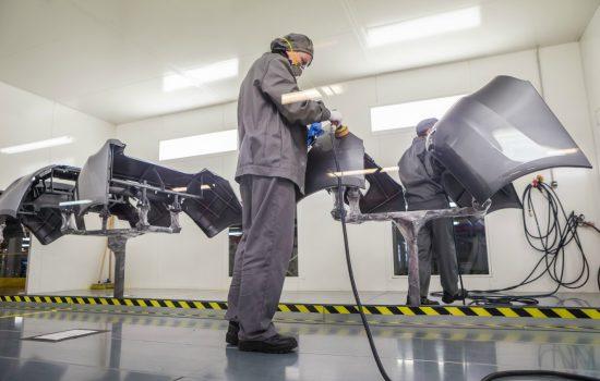 Stock UK manufacturing factory paint shop automotive