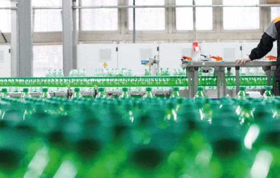 Bottles Sustainability Factory Manufacturing Stock Image