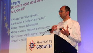 UK aerospace : Sharing in Growth CEO, Andy Page, speaking at the recent SiG All STAR Event in Nottingham.