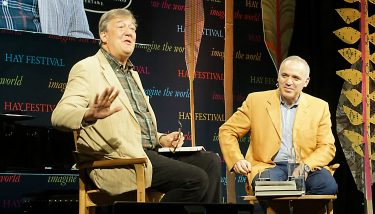 Garry Kasparov was onstage with Stephen Fry at this year's Hay Festival to discuss his new book Deep Thinking, his discussion of AI, machine learning and our relationship with both.