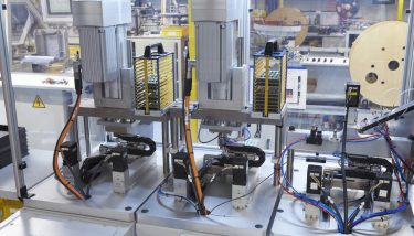 Using standard components from Festo, Harwin achieved the automation accuracy necessary to produce differently shaped and sized connectors on one assembly line - image courtesy of Festo.