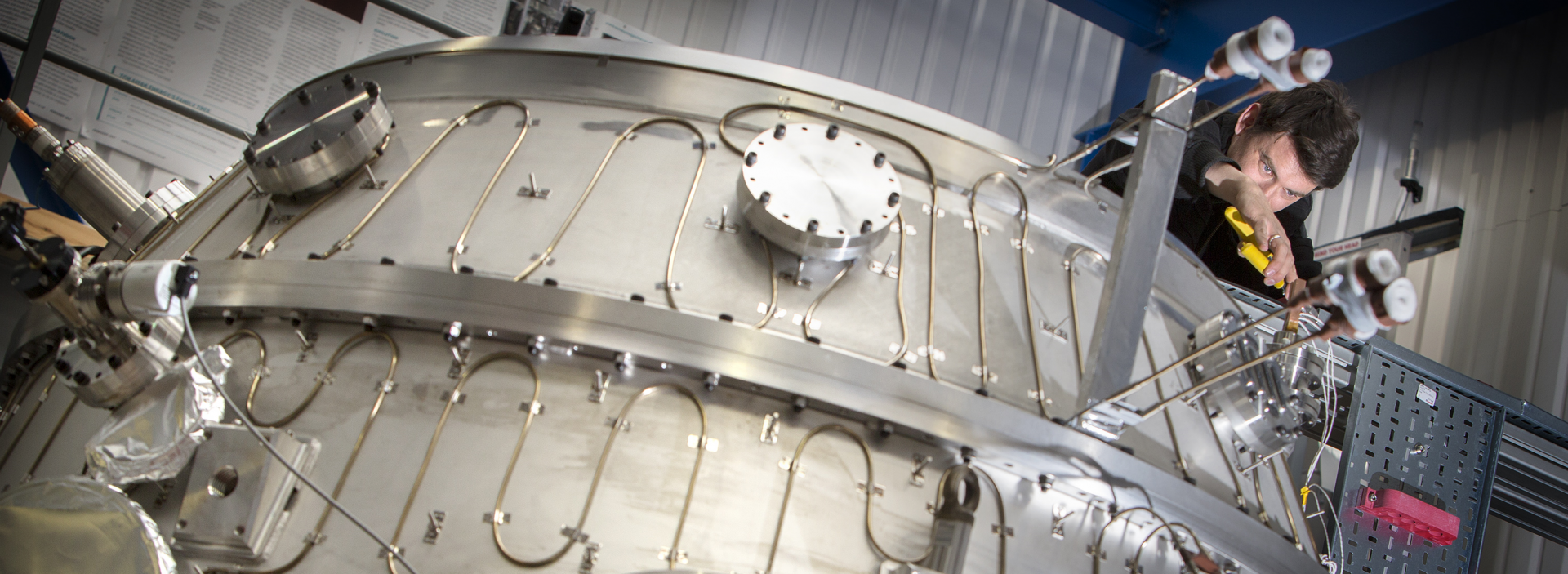 The Tokamak ST40 fusion reactor, which has been switched on and taken the UK one step further towards generating electricity from the power of the stars - image courtesy of Tokamak Energy.