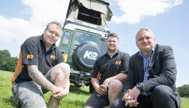 social media - L to R: Dominic King, John Wilkinson (both K2), and James Smith (MGP).