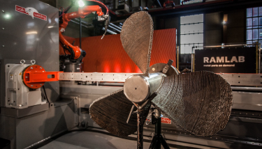 The first pilot component, a ship's propeller, has been made using this hybrid production process, combining wire and arc additive manufacturing - image courtesy of Autodesk.