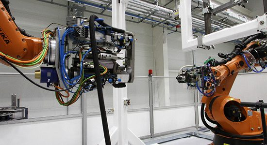 Innovation - The robotic countersinking cell at Factory 2050 - image courtesy of AMRC.