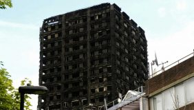 The charred remains of Grenfell Tower following a fire which killed at least 79 people. Image courtesy of Flickr - ChiralJon