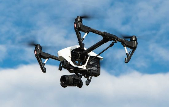 Autonomous Robots Drone UAV Multicopter Aerial View Camera Remote Inspection – image courtesy of Pixabay.