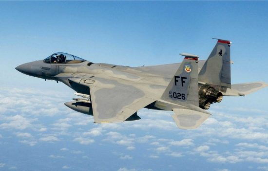 An F-15 fighter jet. Image courtesy of the US Air Force.