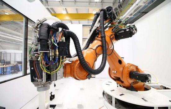 Robotics - The newly upgraded KUKA Titan robot at the AMRC's Factory 2050 - image courtesy of AMRC.