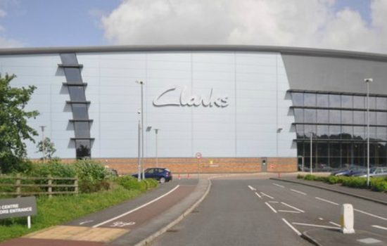 Clarks headquarters in Street, Somerset – image courtesy of Lewis Clarke (geography).