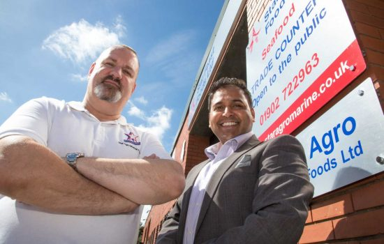 Seafood Supplier - L to R: Steve Money and Mohammed Khan (both Star Feast Foods).