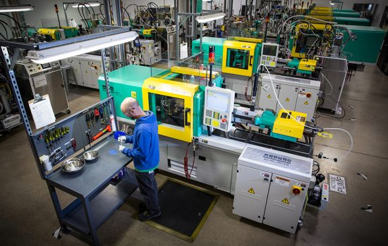 Proto Labs UK's inventory now totals 130 CNC machining and 57 injection moulding machines - image courtesy of Proto Labs.