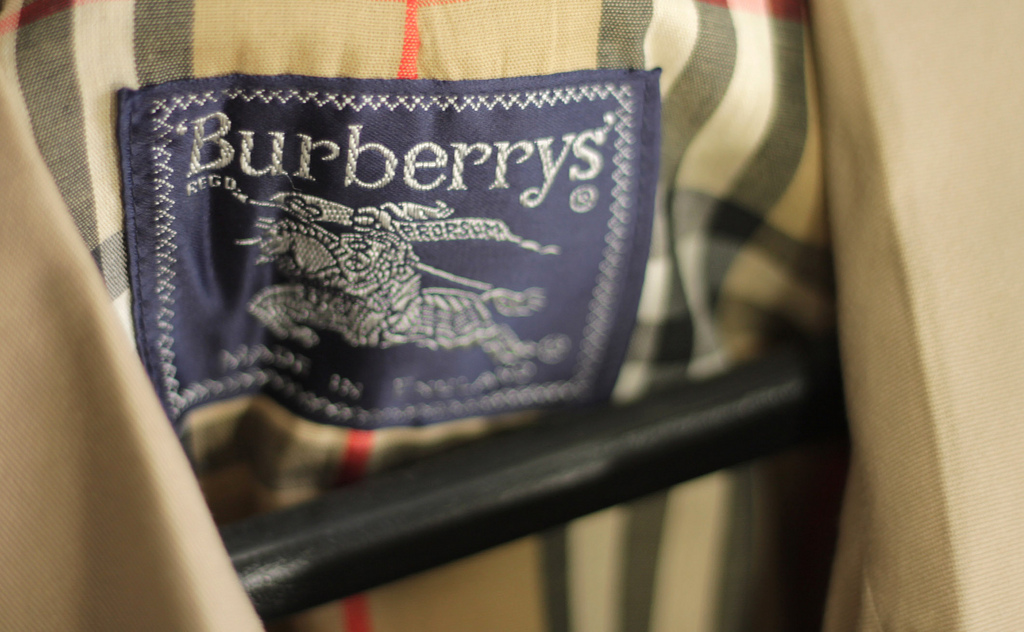 Burberry sales figures rose by 4% in the past three months mainly because the sales in China increased by 15% - image courtesy of Flickr (Robert Sheie, CC BY 2.0.).