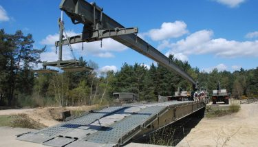 Without the use of an automated fatigue monitoring system, the remaining service life of rapidly deployable military bridges is based on manual records and can be difficult to judge - image courtesy of BAE Systems.