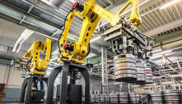 Palletising Robots - Palletising operations have become increasingly automated as businesses look to eliminate manual stacking hazards, improve worker health, maintain quality and reduce product damage - image courtesy of PacePacker.
