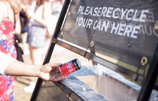At present, approximately 70% of the cans and 57% of the plastic bottles used each year are recycled - image courtesy of CCEP.