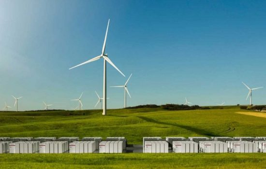 An artist's impression of the Tesla battery installation in South Australia. Image courtesy of Tesla.