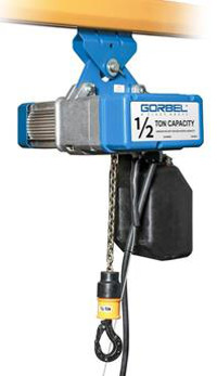 The Gorbel GS Series Electric Chain Hoists have lifting capactity from 0.125 ton to 5 ton - image courtesy of Gorbel.