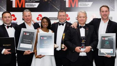 Alan Foster (second from right) and the victorious McLaren Automotive team at the The Manufacturer MX Awards 2016. They were also highly