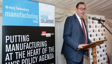 UK manufacturing - The Under-Secretary of State for BEIS and Minister for Energy & Industry, Richard Harrington MP spoke about the importance of reaching out to business and listening to their views – image courtesy of APMG.