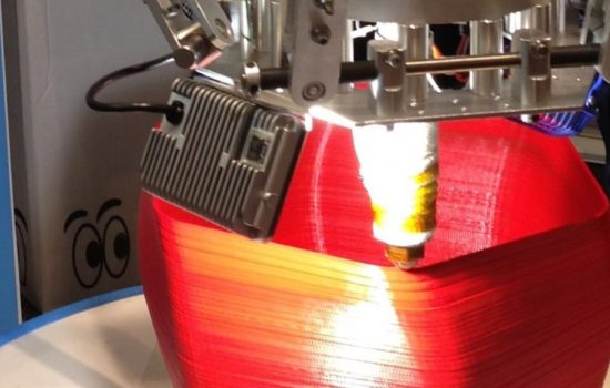 A 3D printer uses filament to fabricate and object. Image courtesy of Wikipedia - Z22.