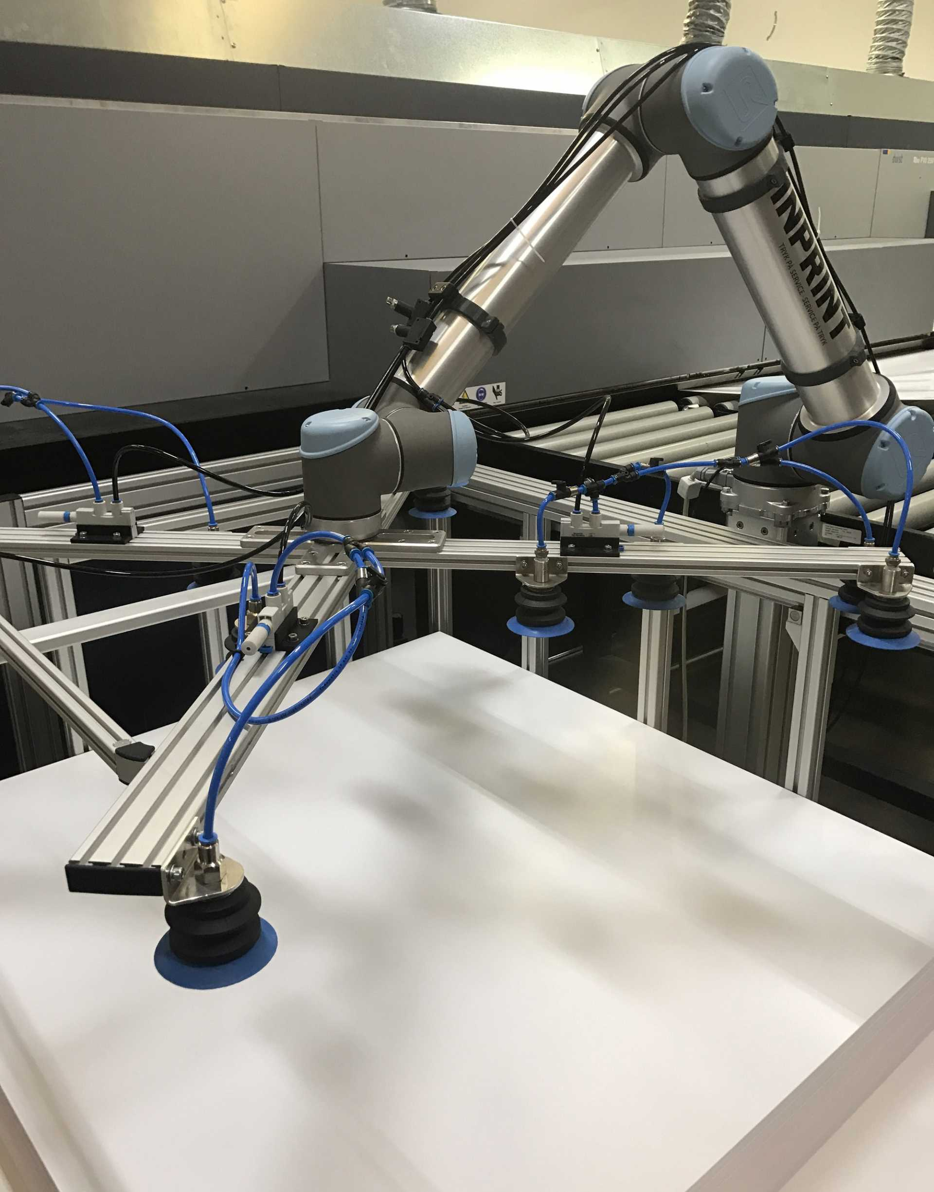 The collaborative pick and place robot robot arm automates processes and manual tasks, where precision is crucial – image courtesy of Universal Robots.