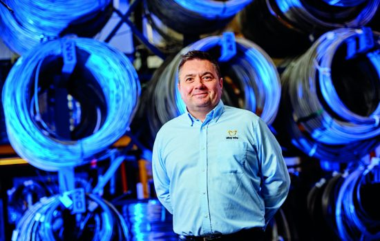 Ian Fitzgerald, operations director of alloy wires manufacturer AWI, - image courtesy of AWI
