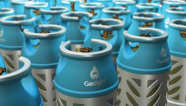 forklift truck fuel - Gaslight cylinders are almost half the weight of traditional LPG cylinders, but with very similar volumes – image courtesy of Flogas.