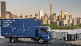 Daimler has revealed on of the first ever fully electric light trucks. Image courtesy of Daimler.