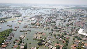 Hurricane Harvey destroyed many vehicles in the Houston area. Image courtesy of US National Guard.