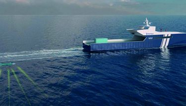 An artist's impression of one of the autonomous patrol boats. Image courtesy of Rolls-Royce