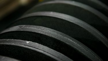 The manufacture of carbon discs for aircraft brakes is long and consumes vast amounts of energy – image courtesy of Meggitt.