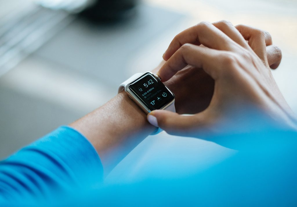A smartwatch gadget like an apple watch technology smart device mobile wireless electronic communication wearable tech – image courtesy of Pixabay.