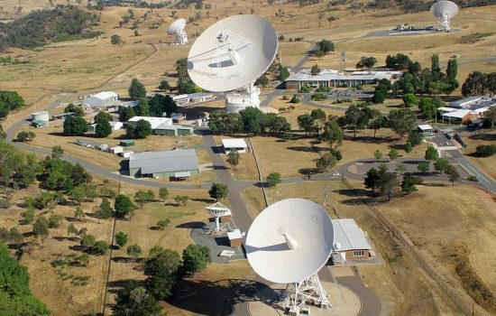Australia has a number of deep space radio telescopes instrumental to international space activities. Image courtesy of CSIRO,