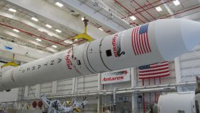 Orbital ATK manufactures a number of space launch systems including the Antares rocket (pictured). Image courtesy of Wikipedia.