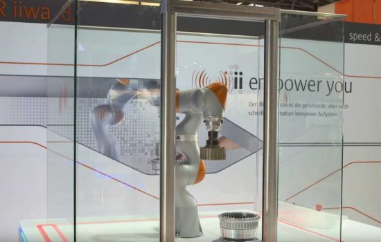 Collaborative robots like the LBR iiwa are becoming more popular. Image courtesy of KUKA.