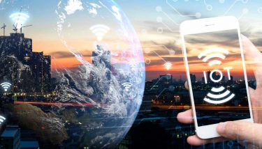 Industrial IoT IIoT Industrial Internet Data Connectivity - Stock Image