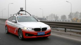 A Baidu self-driving car. Image courtesy of Baidu.