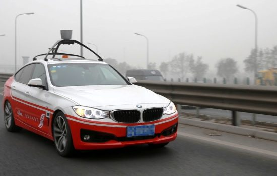 A Baidu self-driving car. Image courtesy of Baidu.