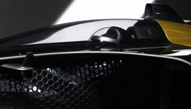 Renault's 2027 concept racing car is able to achieve double the power-to-weight ratio of current F1 models by extensive use of 3D printed parts, including a lightweight honeycomb composite cockpit - image courtesy of Renault.
