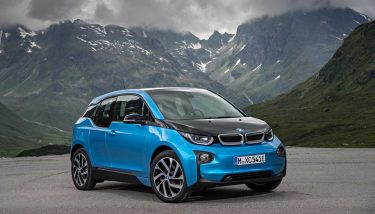 The popular BMW i3, with its carbon fibre body - image courtesy of BMW.