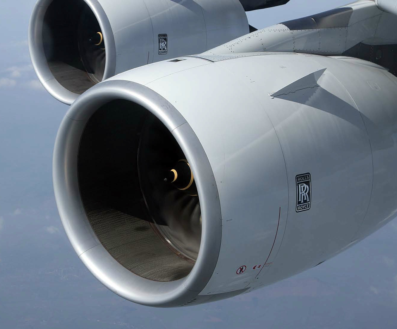 Rolls-Royce's TotalCare package provides a'power by the hour' service that emphasises engine reliability and efficiency. [Trent 900 powering an Airbus A380 – image courtesy of Rolls-Royce plc]