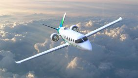 An artist's impression of the electric passenger plane. Image courtesy of Zunum Aero.
