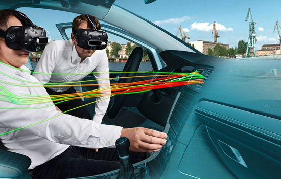 The virtual concept car transfers all design and simulation of a Volkswagen model to a graphic engine - image courtesy of VW