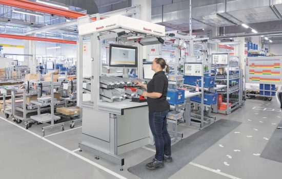 The company is launching an intuitive IR4 guidance system to help UK manufacturers network their assembly line in preparation for Industry 4.0. - image courtesy of Bosch Rexroth