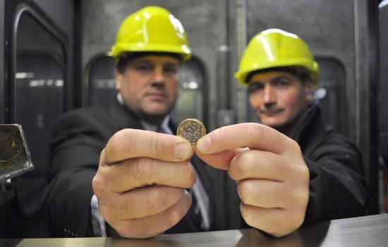Bruderer plays vital role in £1 coin manufacture - image courtesy of Bruderer