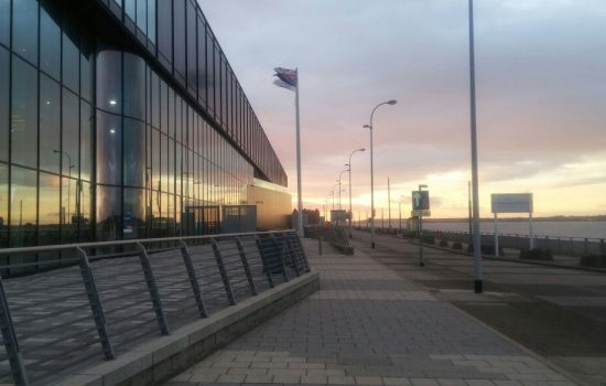 The sun rises over the Liverpool Exhibition Centre as Day 2 of the Expo kicks off. Image courtesy of the Manufacturer.