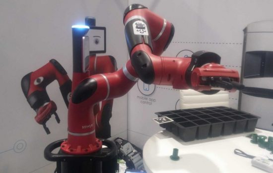 The Sawyer robot is designed to work with human coworkers. Image courtesy of The Manufacturer.